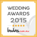 Ganador Wedding Awards 2015 bodas.com.mx